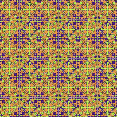 Photograph - Azulejos Magic Pattern - 09 by Andrea Mazzocchetti