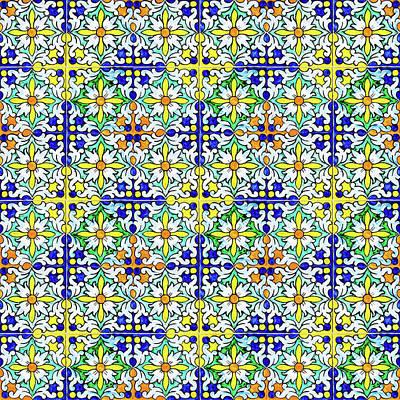 Mixed Media - Azulejos Magic Pattern - 11 by Andrea Mazzocchetti
