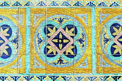 Photograph - Azulejos Of Seville - Decorations by Andrea Mazzocchetti