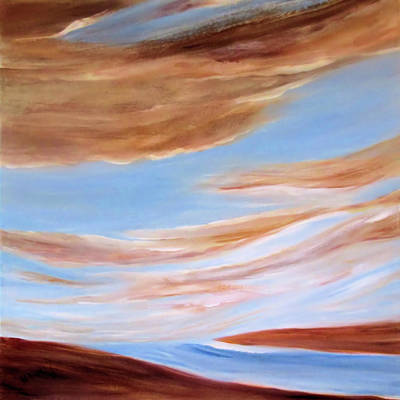 Painting - Azulite By V.kelly by Valerie Anne Kelly