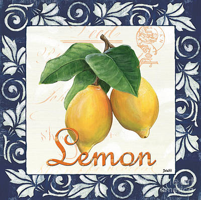 Country Kitchen Painting - Azure Lemon 1 by Debbie DeWitt