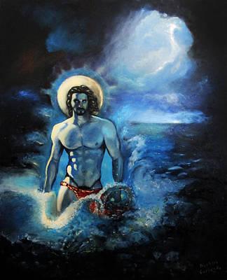 Azure Neptune Art Print
