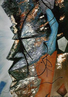 Wall Art - Painting - Azure Profile by Hasaan Kirkland