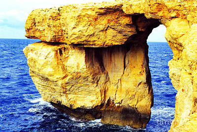 Azure Window Island Of Gozo Art Print by Thomas R Fletcher