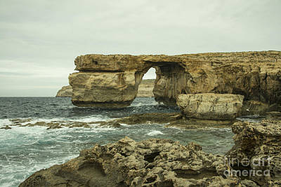 Maltese Photograph - Azure Window  by Rob Hawkins