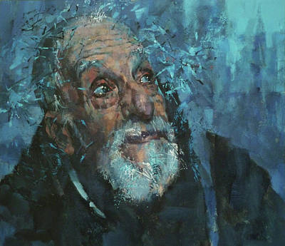 Atkinsky Painting - Azzurro by Alexander Ilichev