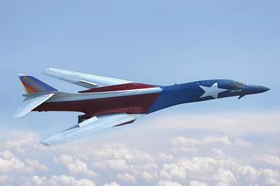 Digital Art - B-1 Southwest Livery by Peter Chilelli