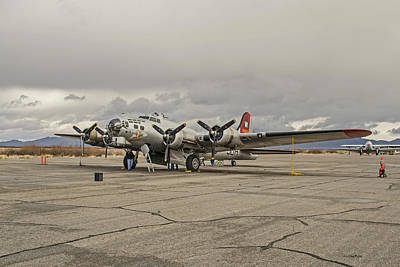 Photograph - B-17 Flying Fortress by Allen Sheffield