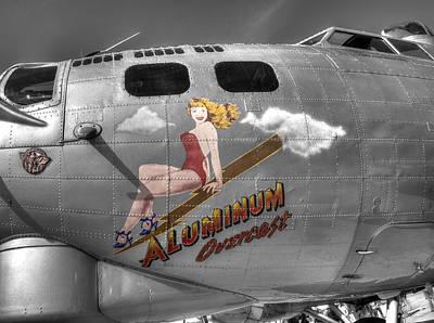 B17 Photograph - B-17 Aluminum Overcast  V2 by John Straton