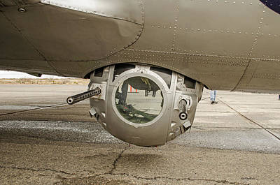 Photograph - B-17 Ball Turret by Allen Sheffield