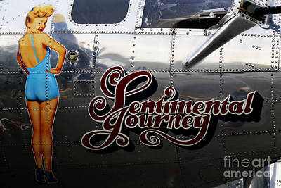 Photograph - B-17 Betty Grable by Sue Harper