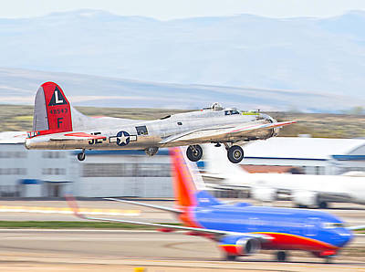 Art Print featuring the photograph B-17 Bomber by Dart and Suze Humeston