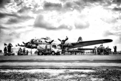 Photograph - B-17 Bomber Fueling Up In Hdr by Michael White