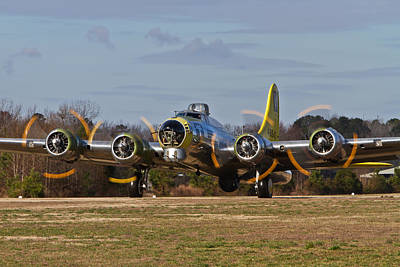 Photograph - B-17 Chuckie Taxis Out by Liza Eckardt