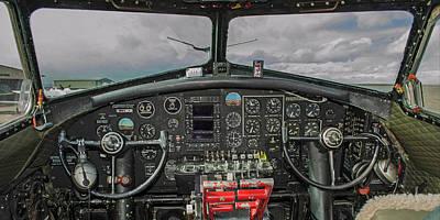 Photograph - B-17 Cockpit Coffee Mug by Allen Sheffield