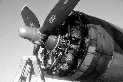 Photograph - B 17 Engine C by David Lee Thompson