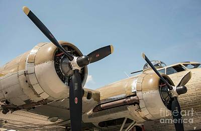 Photograph - b -17 Flying Fortress - 2 by David Bearden