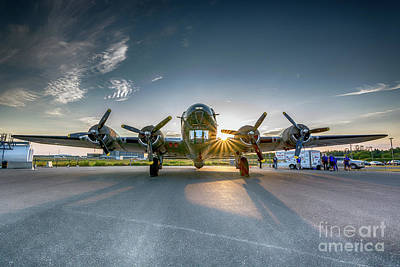 James Brown Photograph - B-17 Flying Fortress by James Brown
