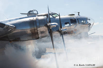 Photograph - B-17 Flying Fortress On Start-up by Antoine Roels