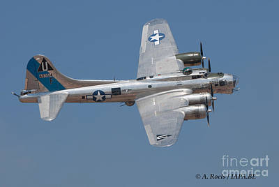 Photograph - B-17 Flying Fortress  Sentimental Journey by Antoine Roels