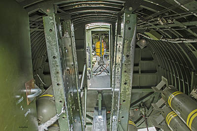 Photograph - B-17 Interior by Allen Sheffield