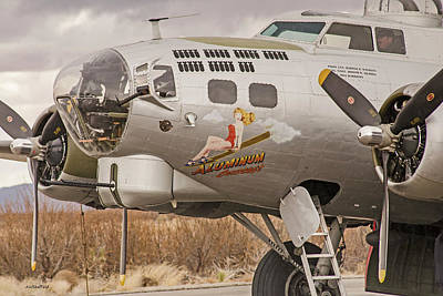 Photograph - B-17 Nose Art by Allen Sheffield