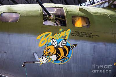 Photograph - B-17 Restored by Rick Bragan