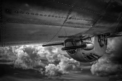 Cockpit Photograph - B17 Turret by Mike Burgquist