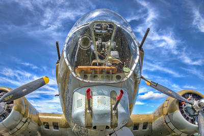 Photograph - B 17 Up Close by Gary Slawsky