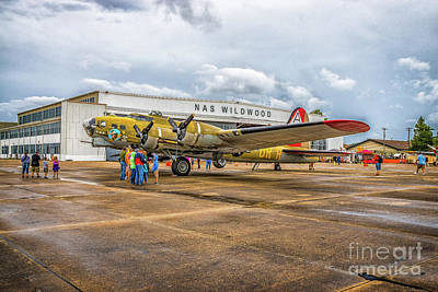 Photograph - B-17g At Nas Wildwood by Nick Zelinsky