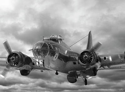 Photograph - B-17g On Climbout by Philip Rispin