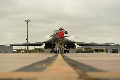 Photograph - B 1b Lancer Familiarisation Flight Dyes Air Force Base by Paul Fearn