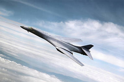 High-speed Digital Art - B-1b Lancer by Peter Chilelli