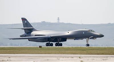 B-1b Ready For Takeoff Art Print by David M Porter