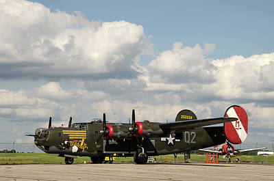 Photograph - B-24 Liberator by Ann Bridges