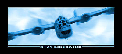 Panoramic Digital Art - B-24 Liberator by Mike McGlothlen