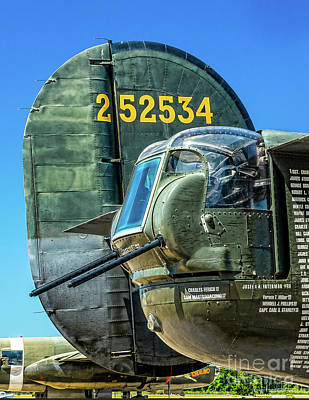 Photograph - B-24 Tail Gun  by Nick Zelinsky