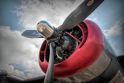 Photograph - B-24j Liberator Engine II by Kristia Adams
