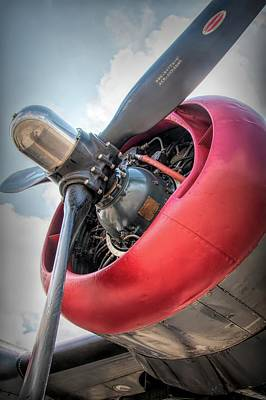 Photograph - B-24j Liberator Engine by Kristia Adams