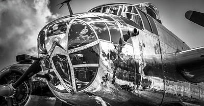 Photograph - B-25 - Bw Series 2 by Eric Miller