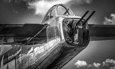 Photograph - B-25 - Bw Series by Eric Miller