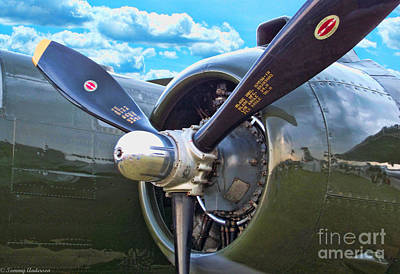 B-25 Engine Original by Tommy Anderson