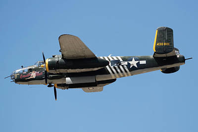 Photograph - B-25 Flyby by Joe  Palermo
