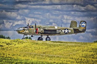 B-25 Landing Akron/canton Ohio Art Print
