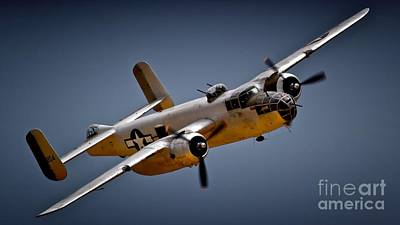 Planes Of Fame Photograph - B-25 Mitchell 2011 Chino Air Show by Gus McCrea