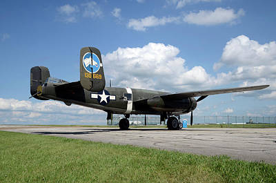 Photograph - B-25 Mitchell by Ann Bridges