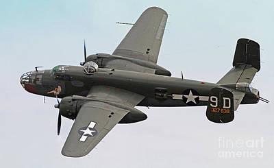 B-25 Mitchell Bomber Aircraft Art Print