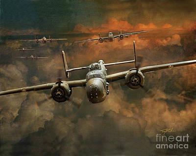 B-25 Mitchell Bomber Art Print