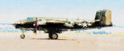 Photograph - B-25 Mitchell Bomber by Wernher Krutein