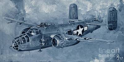Painting - B-25 Mitchell by Holly York